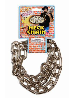 80's Big Links Neck Chain Silver Accessory