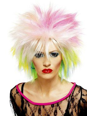 80's Cutie Multi Colored Adult Wig