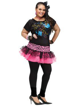 80's Pop Party Women's Plus Size Costume