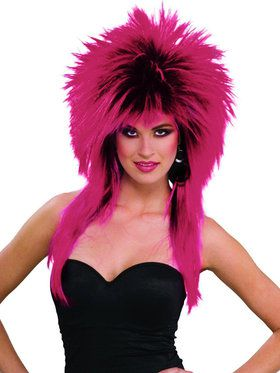 80's Purple Pizazz Wig For Adults