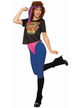 80's Workout Diva Small Costume