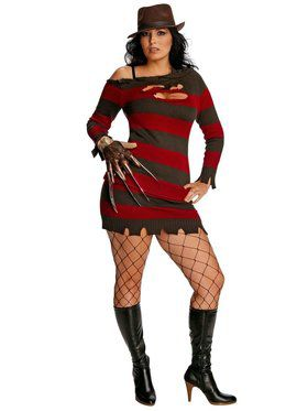 A Nightmare On Elm Street Miss Freddy Krueger Adult Plus Costume
