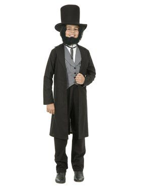 Kid's Abraham Lincoln with Hat Costume