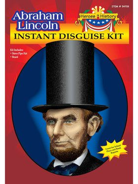 Abe Lincoln Hat and Beard Set