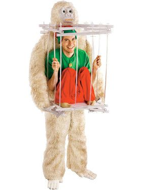 Abominable Snowman Cage Men's Costume