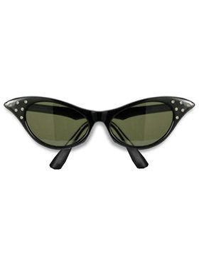 1950's Black Frame Adult Sunglasses