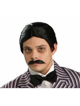 Adult Addams Family Gomez Addams Wig & Moustache Kit