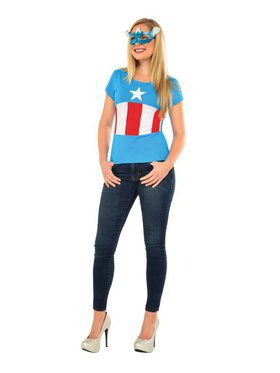 American Dream Costume Top and Mask for Adult