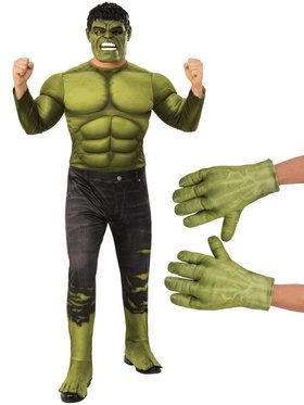 Adult Avengers Endgame Hulk Costume Kit