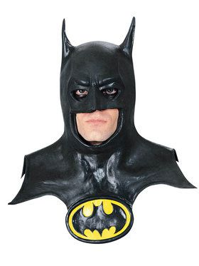 Batman Mask with Cowl and Logo for Adults