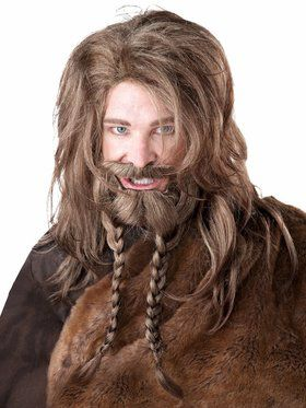 Adult Beard, Moustache and Wig Set