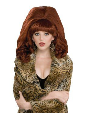 Adult Big Red Sixty's Teased Wig
