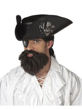 Adult Black Captain Beard