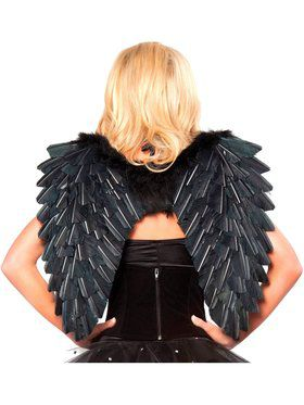 Adult Black Feather Angel Wings