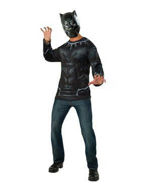 Black Panther Mask and Costume Top for Adult