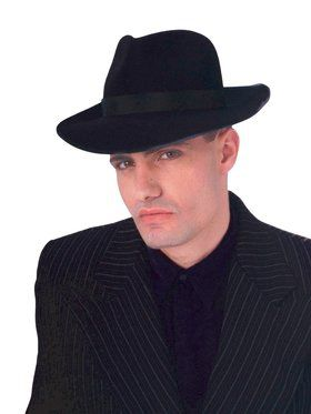 Black Profelt Fedora for Adults