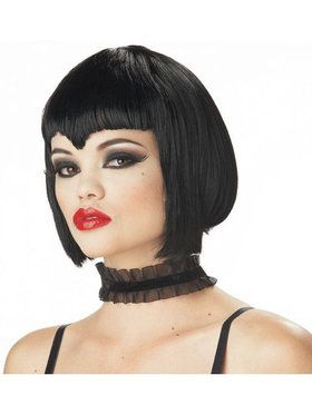 Adult Black Va Va Vamp Wig