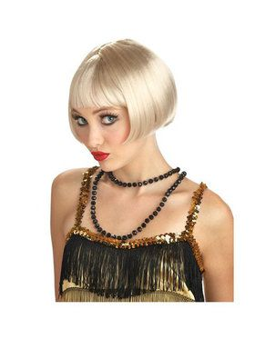 Adult Blonde Flirty Flapper Wig