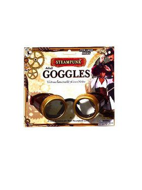 Adult Brown and Gold Steampunk Goggles
