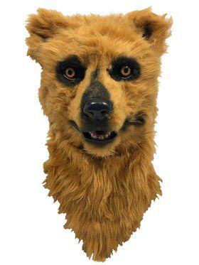 Brown Bear Mask with Moving Mouth for Adults