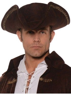 Adult Brown Pirate Hat