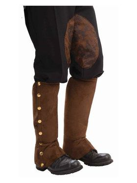 Adult Brown Steampunk Spats