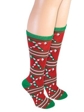 Adult Candy Cane Socks