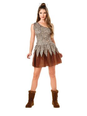 Adult Cave Woman Costume For Adults
