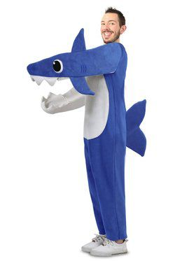 Chompin' Daddy Shark Costume w/ Sound Chip for Adult