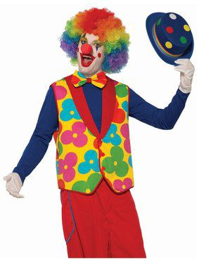 Clown Adult Vest and Tie