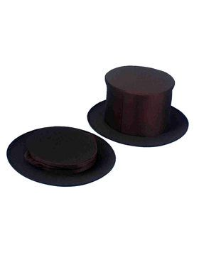Adult Collapsible Top Hat - Black