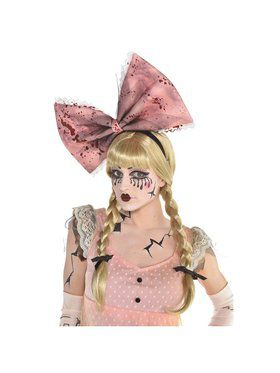 Womens Haunted Doll Bow Headband