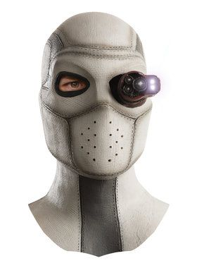 Adult Deadshot Light-Up Latex Mask For Adults