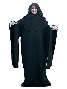 Deluxe Black Full Cut Robe for Adults