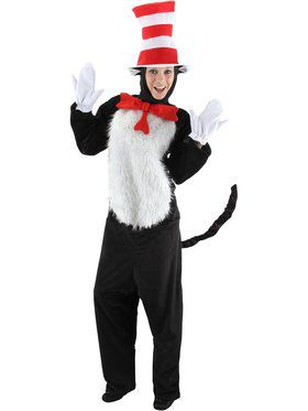 Adult Deluxe Dr. Seuss Cat In the Hat Costume