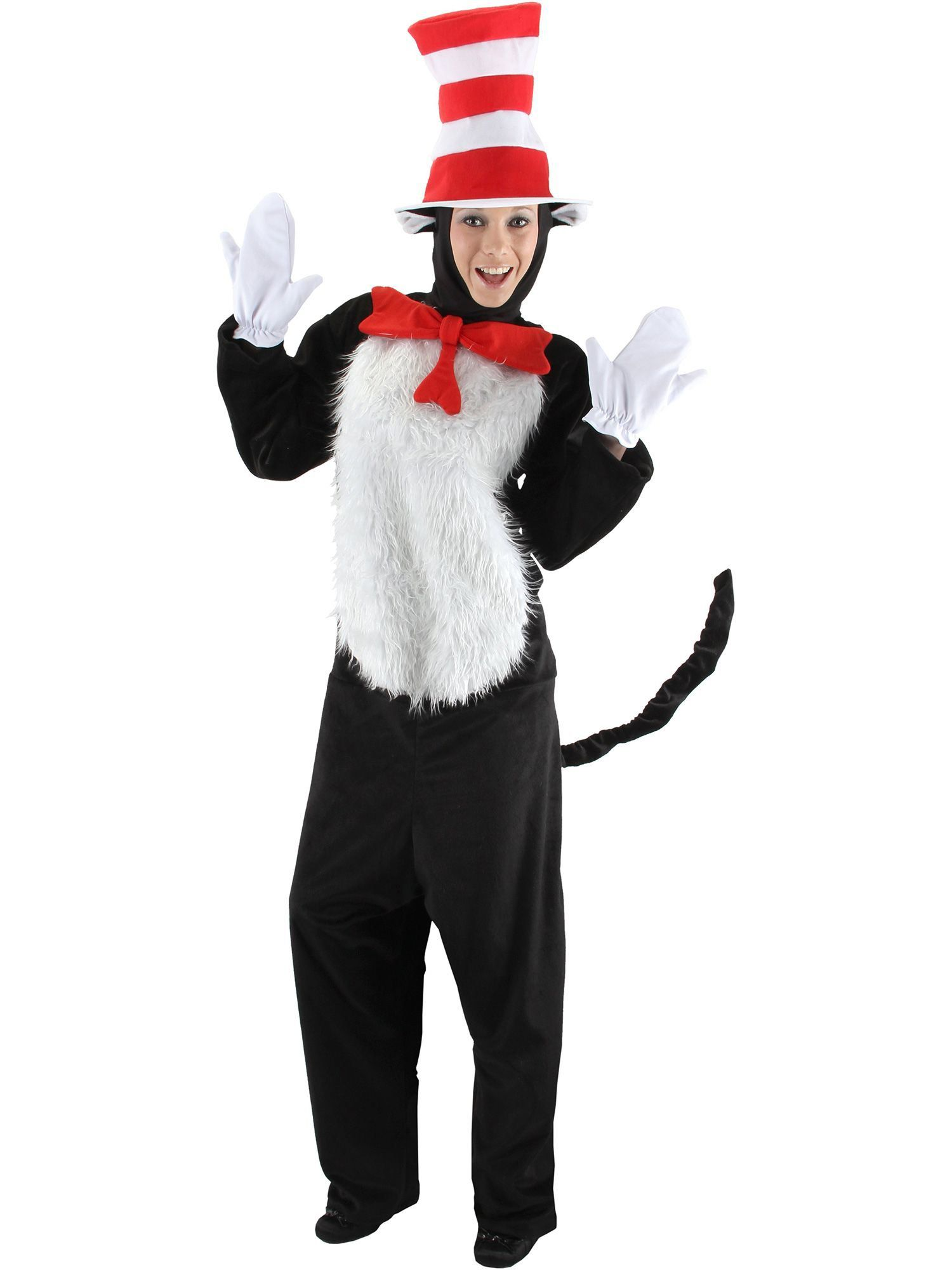 Adult Deluxe Dr Seuss Cat In the Hat Costume  sc 1 st  Wholesale Halloween Costumes & Adult Dr Seuss Cat In the Hat Costume - Cartoon Mens Costumes