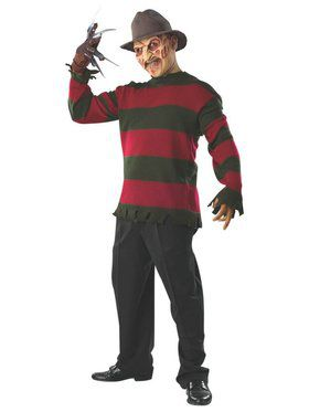 Freddy Sweater with Mask Deluxe Adult Costume