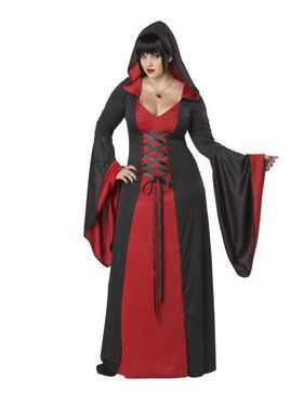 Adult Deluxe Hooded Dress Plus Size Costume