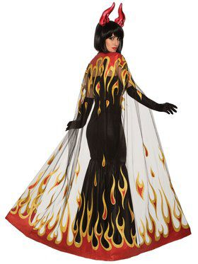 Adult Devil Fire Cape