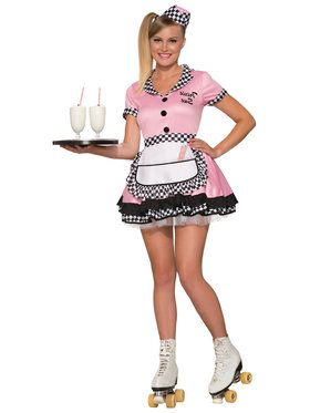 Diner Trixie Sue Costume For Adults
