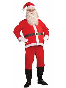 Adult Disposable Santa Claus Costume