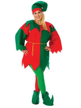 Adult Economy Elf Plus Size Costume