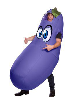 Inflatable Eggplant Costume for Adults