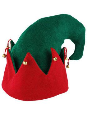 Adult Elf Hat - Red and Green