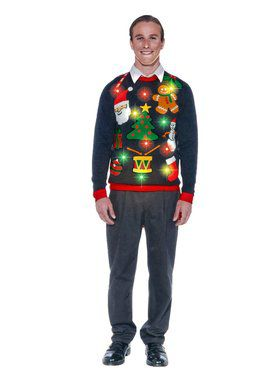Adult Everything Christmas Light Up Sweater Costume
