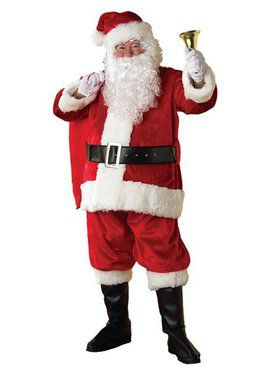 Adult Extra Large Deluxe Regency Plush Santa Suit
