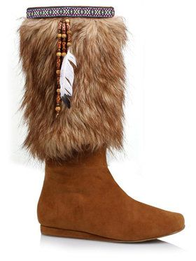 Adult Faux Suede and Fur Boot