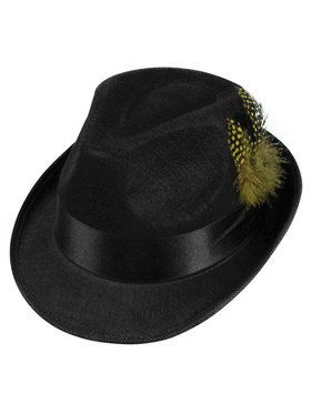 Felt Fedora Hat with Feather for Adults