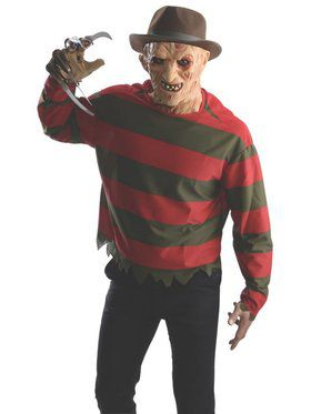 Freddy Mask and Shirt for Adult
