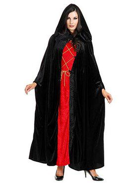 Full Length Velvet Hooded Cape for Adults